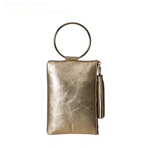 THACKER Nolita leather Clutch ring handle